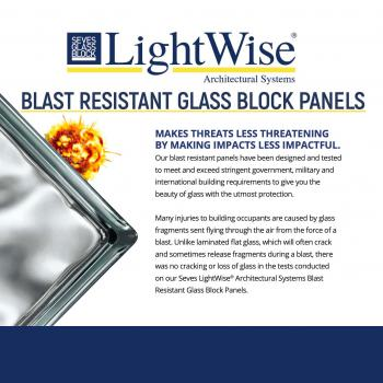 Blast Resistant Glass Block Windows