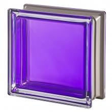 Mendini Amethista Glass Block purple 19x19x8