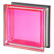 Mendini Corallo Glass Block Pink 19x19x8